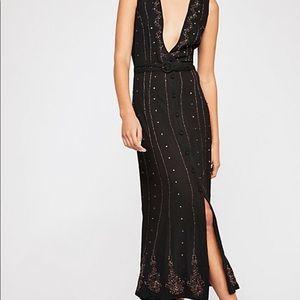 free people black beaded dress